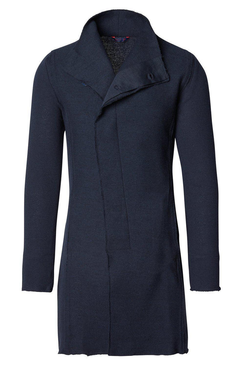 Asymmetric Rebel Cardigan - Navy - Ron Tomson