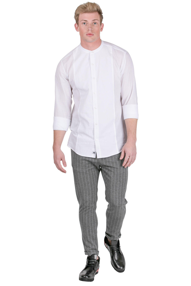 Band Lightweight Shirt - White - Ron Tomson