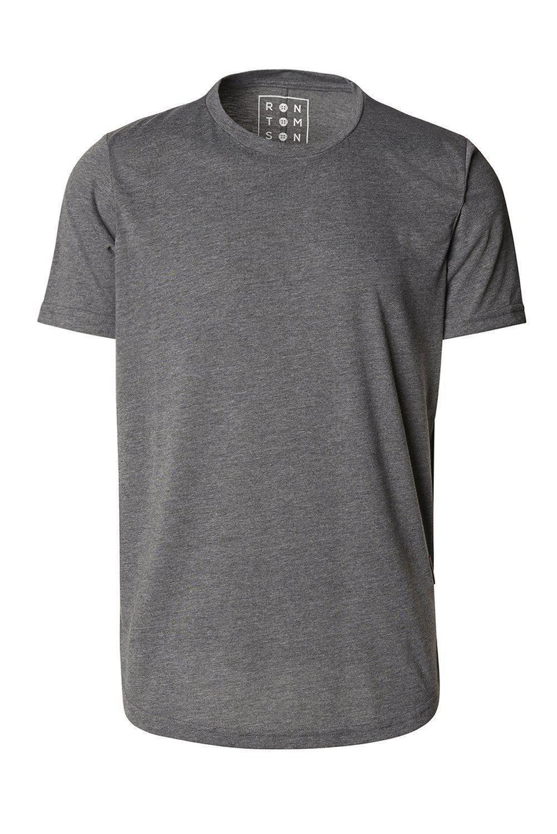 Basic Short Sleeve Crew Neck T-shirt - Anthracite - Ron Tomson
