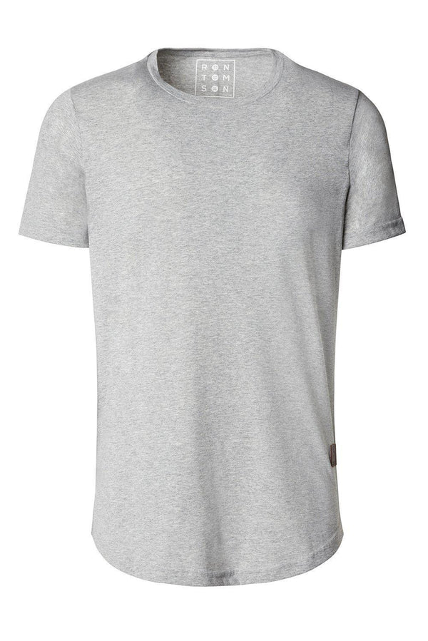 Basic Short Sleeve Crew Neck T-shirt - Grey