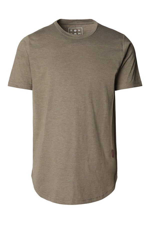Basic Short Sleeve Crew Neck T-shirt - Khaki