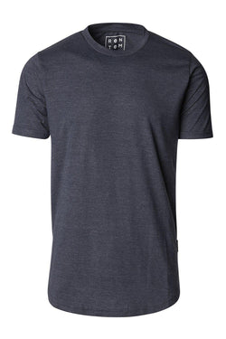 Basic Short Sleeve Crew Neck T-shirt - Navy