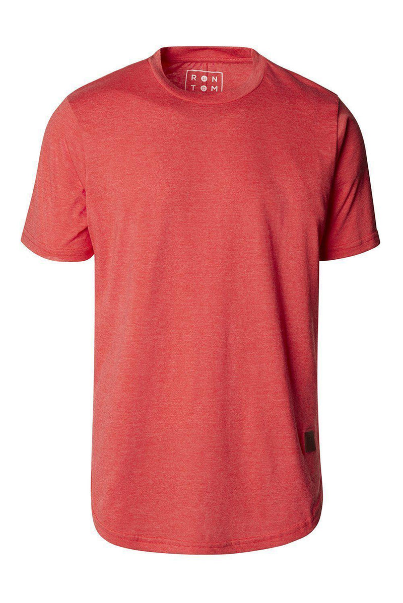 Basic Short Sleeve Crew Neck T-shirt - Red