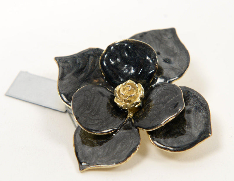 Black Flower Brooch - PN-1950