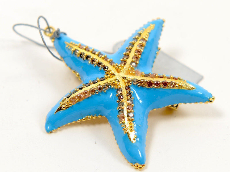Blue Starfish Brooch - PN-1958