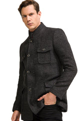 Boucle Field Coat - Anthracite - Ron Tomson