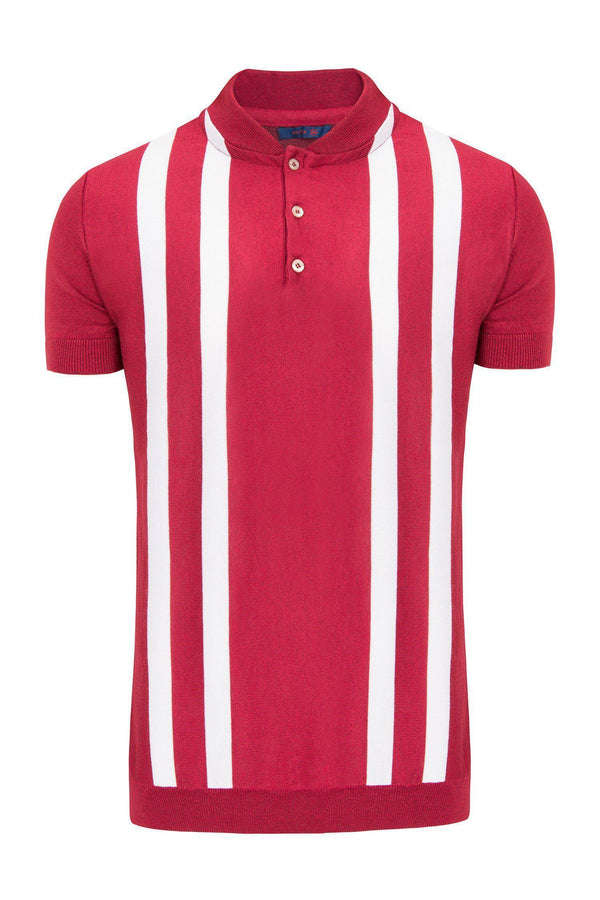 Bowling Shirt 6181- Red White - Ron Tomson