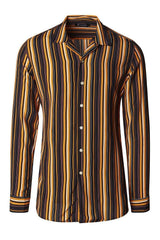 Brown Striped Shirt - Ron Tomson
