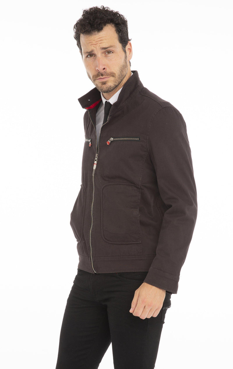 Chino Jacket - BLACK - Ron Tomson