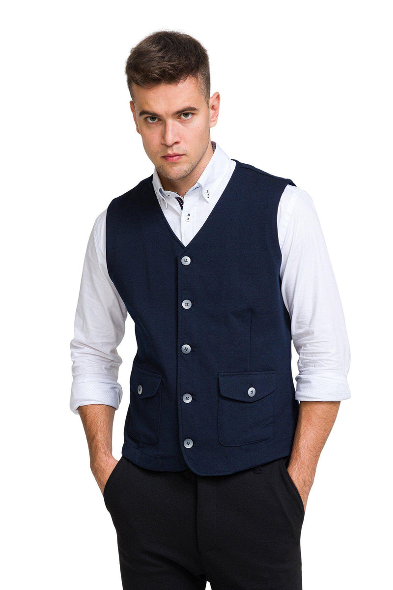 City II Vest - Navy - Ron Tomson