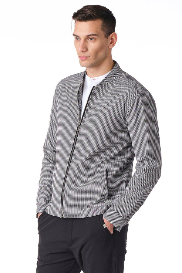 City Zip Shell Jacket - Gingham - Ron Tomson