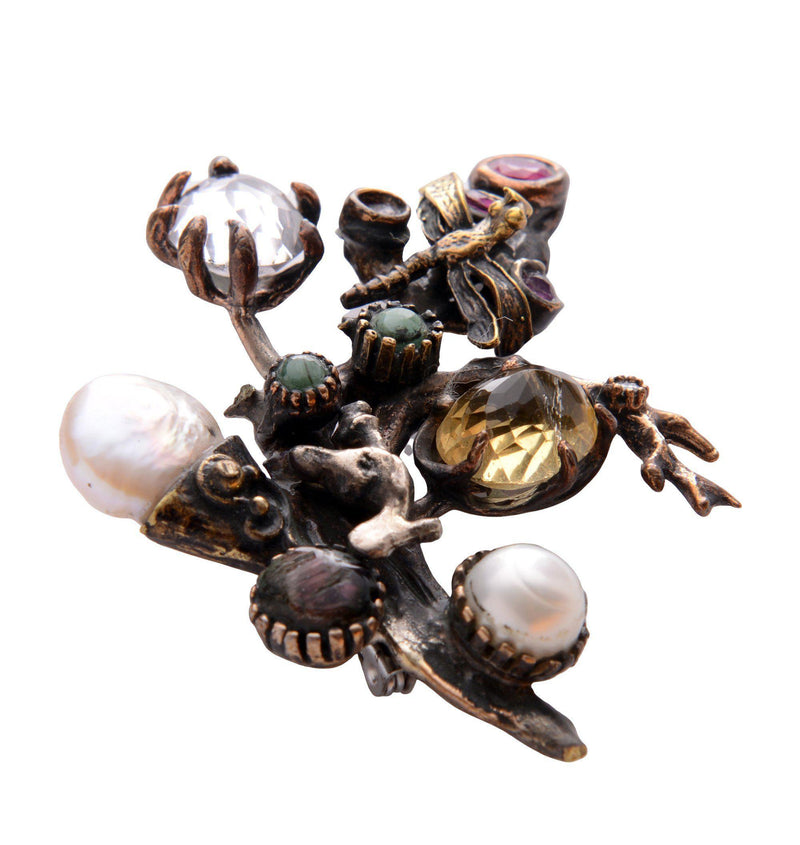 Claws and Stones Pendant Brooch - Ron Tomson