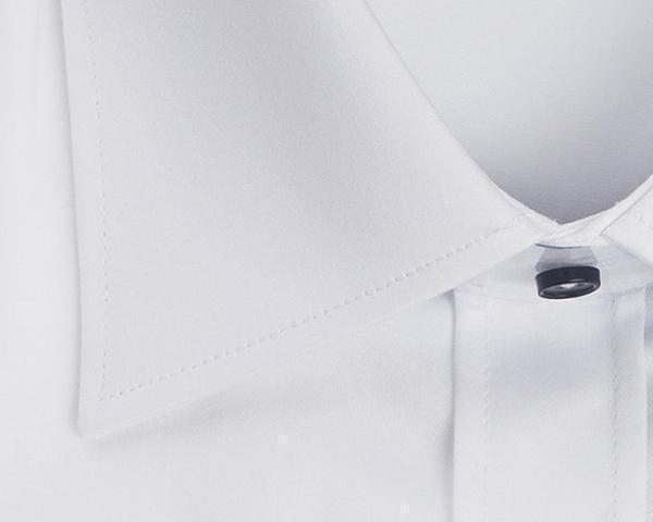 Contrast button dress shirt - White Purple