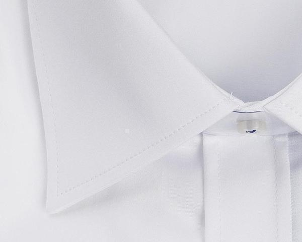 Contrast stitching dress shirt - White Navy