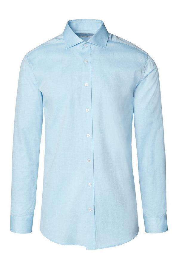 Convertible Cuff Oxford Cotton Spread Collar Dress Shirt - Turquoise - Ron Tomson