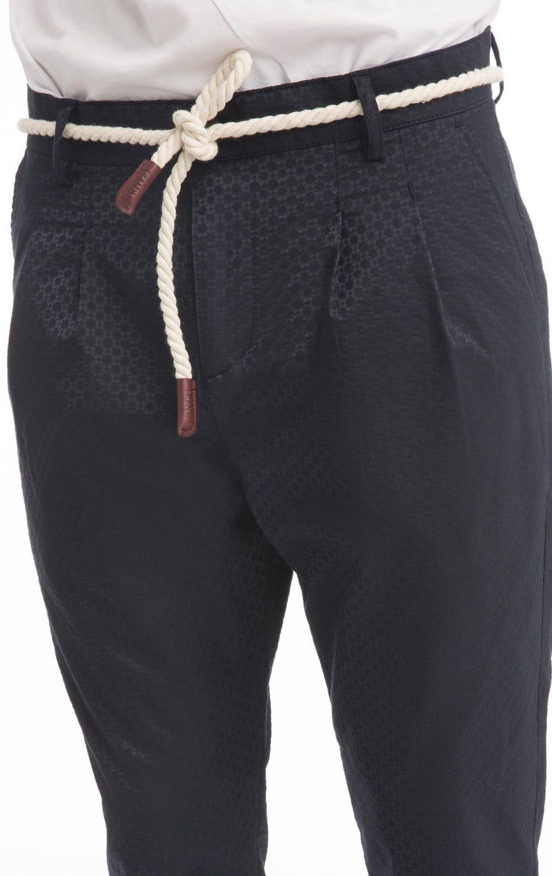 Cord Lux Pattern Trausers-Jeans-Ron Tomson-BLACK-S-Ron Tomson