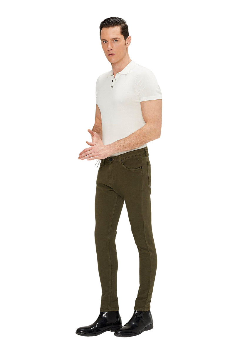 Cotton Pants - Khaki - Ron Tomson