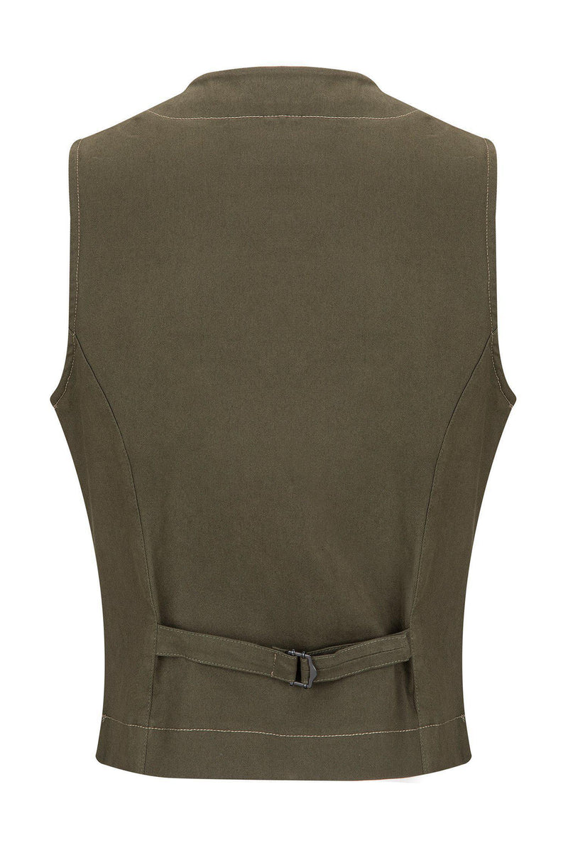 Cotton Vest - Green - Ron Tomson