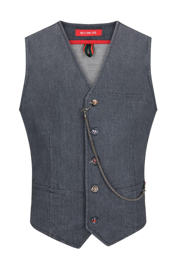Cotton Vest - Grey
