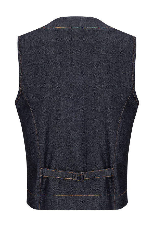 Cotton Vest - Navy