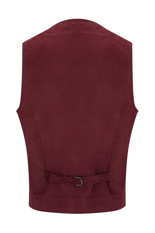 Cotton Vest - Wine