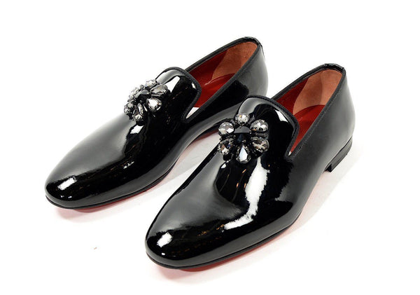 Crystal Patent Loafer - Black - Ron Tomson