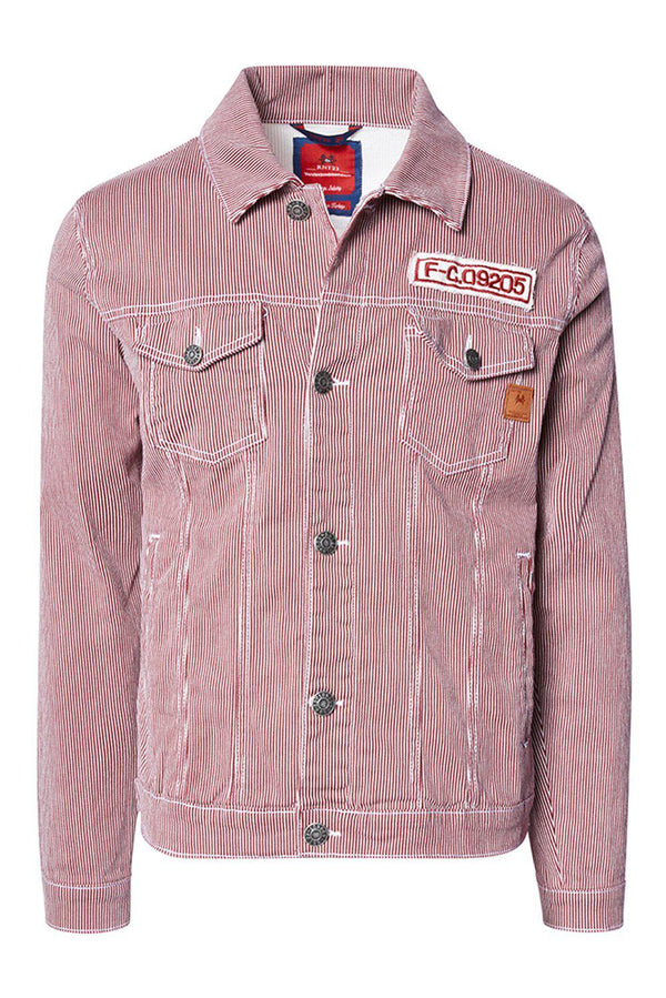 Denim Jacket - Wine