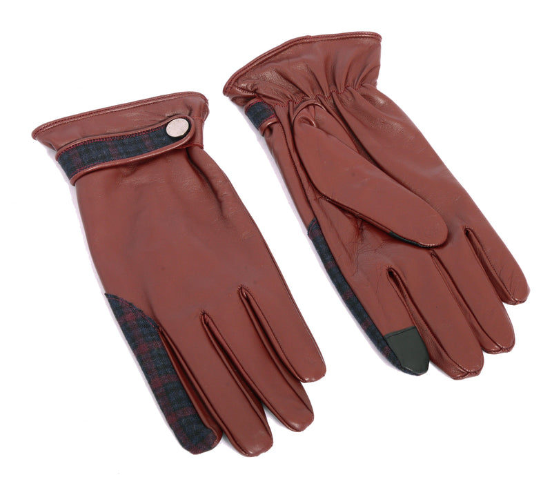 Dent Leather Glove - Oxblood Leather - Ron Tomson