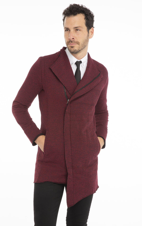 Destination Knit Cardigan - Wine - Ron Tomson