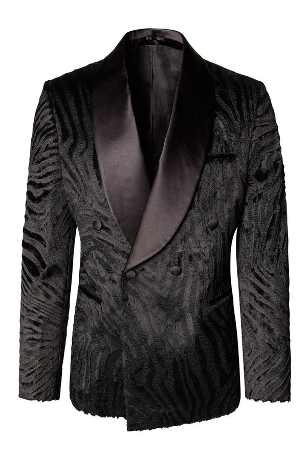 Double Breasted Tuxedo - Black - Ron Tomson