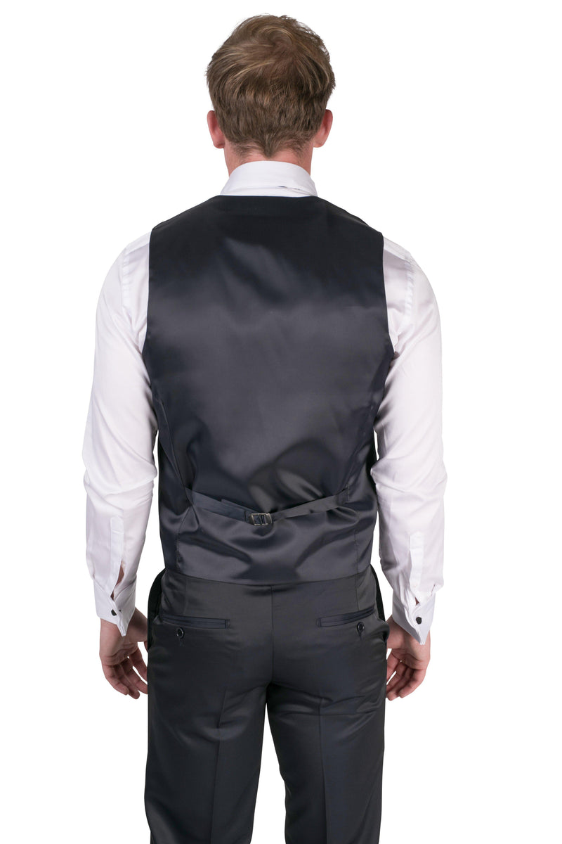 Double breasted U-shaped Vest-Vests-Ron Tomson-NAVY-36-Ron Tomson