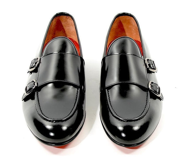 Double Monk Strap Loafer - Black - Ron Tomson