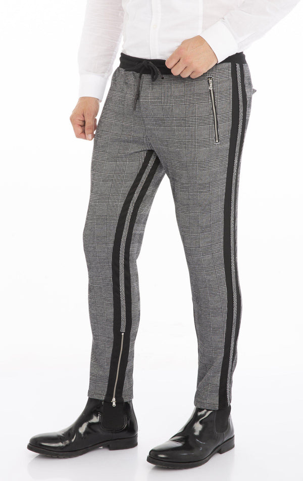Double Stripe Joggers - Black