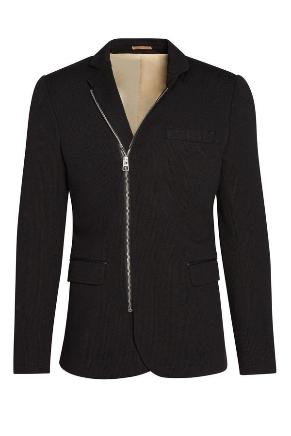 Double Zipper Jacket - Black - Ron Tomson