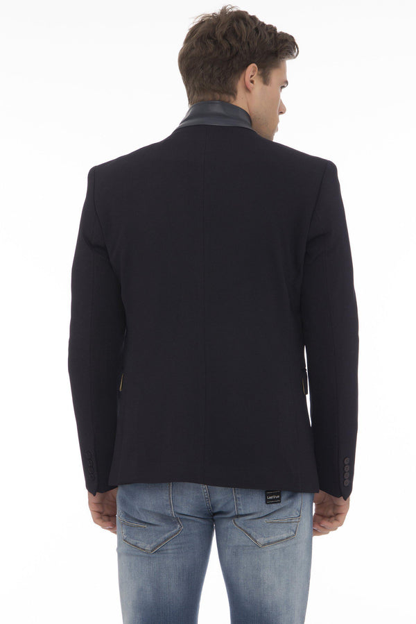 Double Zipper Jacket - More Colors-Jackets-Ron Tomson-BLACK BLACK-M-Ron Tomson