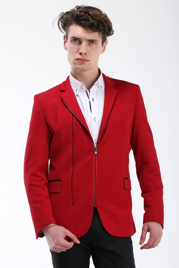 Double Zipper Jacket - More Colors-Jackets-Ron Tomson-RED BLACK-M-Ron Tomson