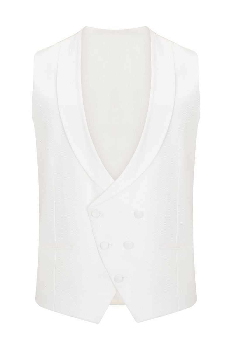 European Fit Tuxedo Jacket with Pants - White