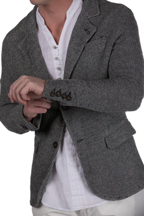Fitted Knit Men's Blazer - Ron Tomson