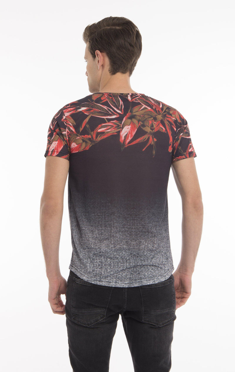 FLY SOLO FLORAL NECK - BLACK
