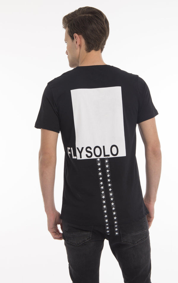 FLY SOLO STAR STRAPS T-SHIRT - BLACK
