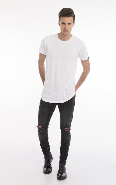 FLY SOLO STAR STRAPS T-SHIRT - WHITE