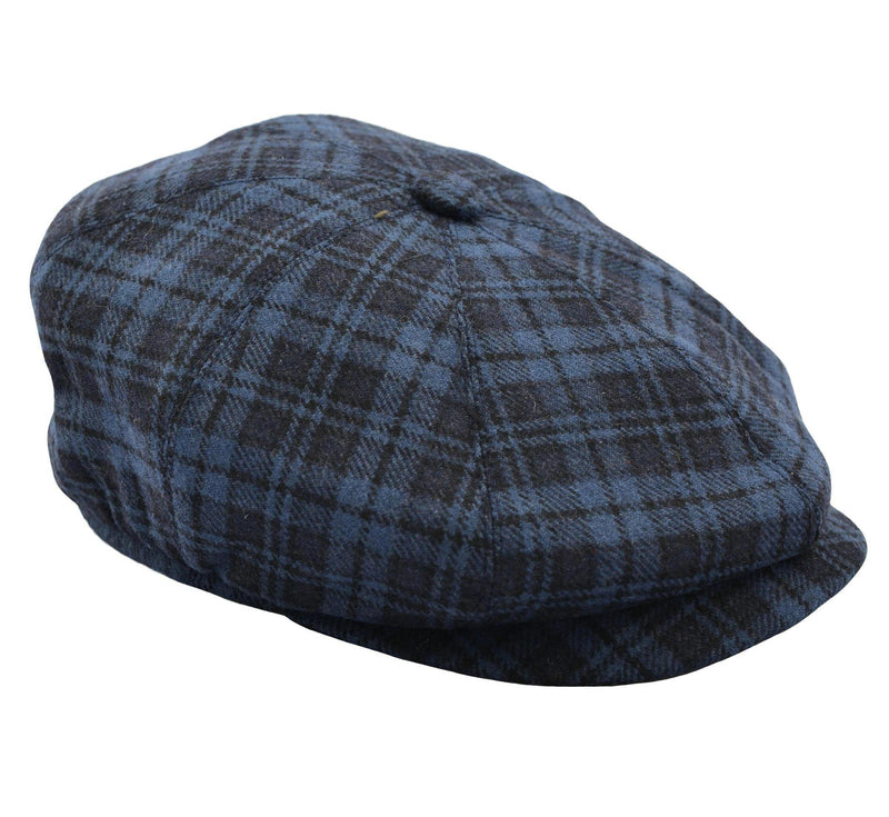 Freddie Peaky Newsboy Flat Cap - Blue Plaid