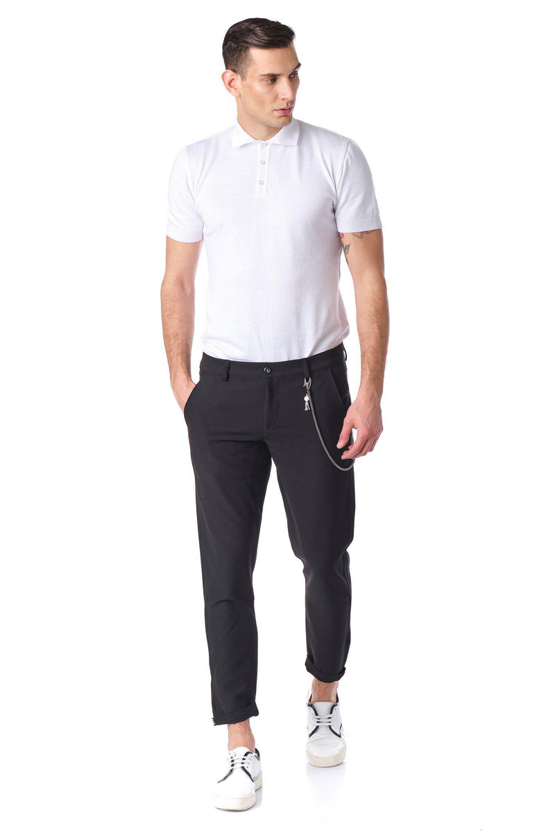 French Quarter Casual Trouser - Black - Ron Tomson