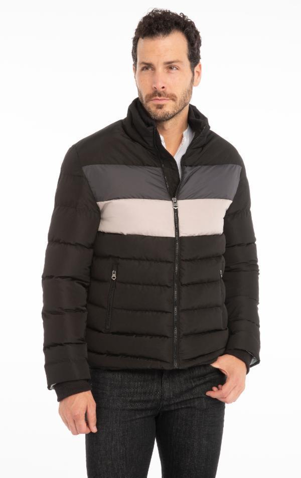 Fully Lined Puffer Jacket - Black