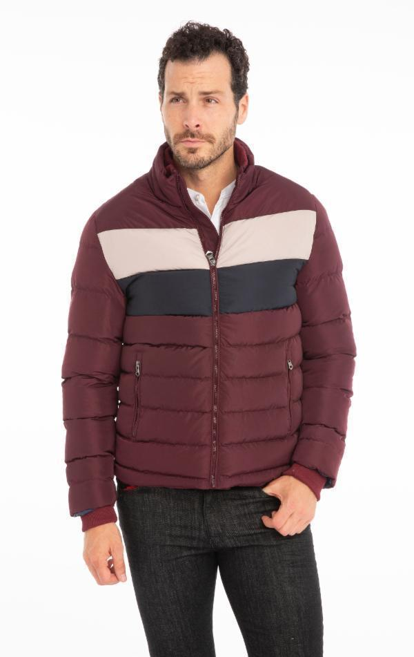 Fully Lined Puffer Jacket - Bordeaux