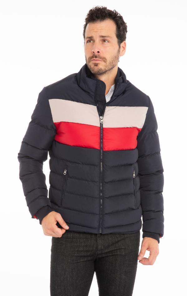 Fully Lined Puffer Jacket - Navy