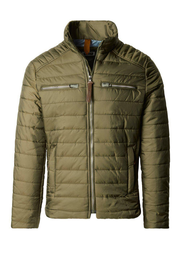 Funnel Neck Puffer Jacket - Khaki