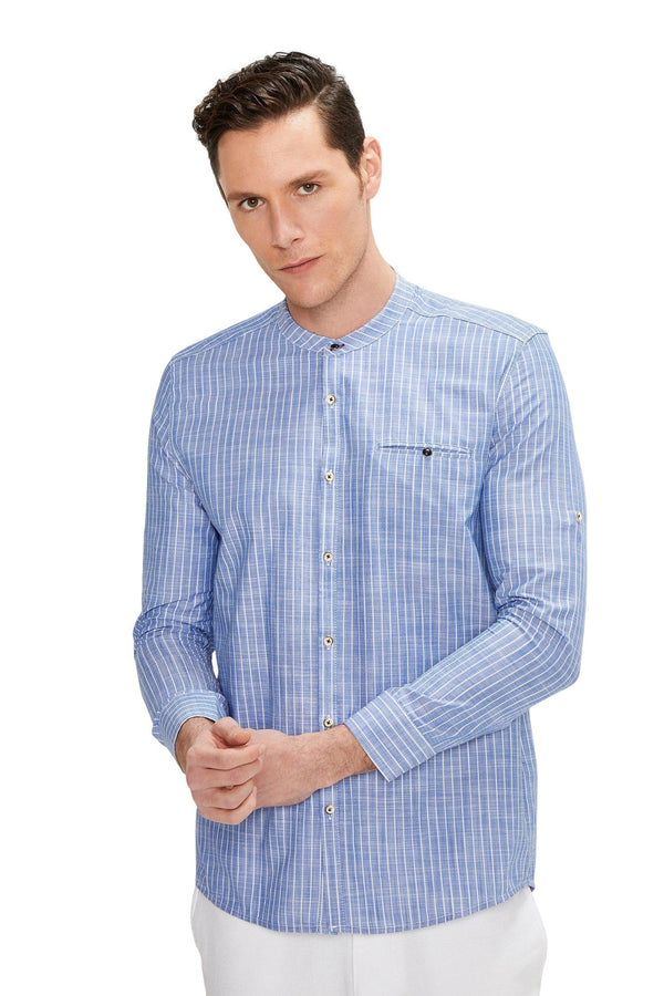 General Striped Shirt - DARK BLUE