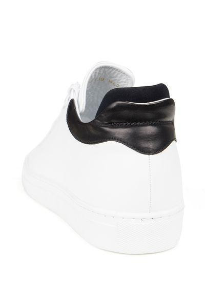 Genuine Leather Sneakers - WHITE