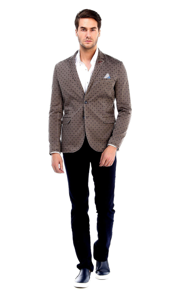 Geometric Fitted Sports Blazer-Blazers & Sport Coats-Ron Tomson-ANTRACITE-M-Ron Tomson